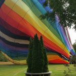 Hot air balloon flights from our backyard