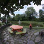 Pond side patio