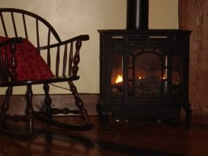 Warmth from a woodstove